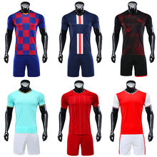 Thailand quality wholesale new designs blank soccer teams black and white model sublimation  printing custom football jersey