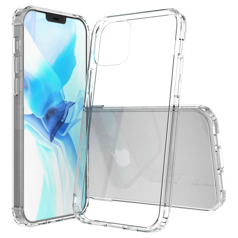 For iPhone 12 Pro Transparent Case Acrylic TPU Bumper Cover Hybrid Shockproof Clear Phone Case for iPhone 12 Pro