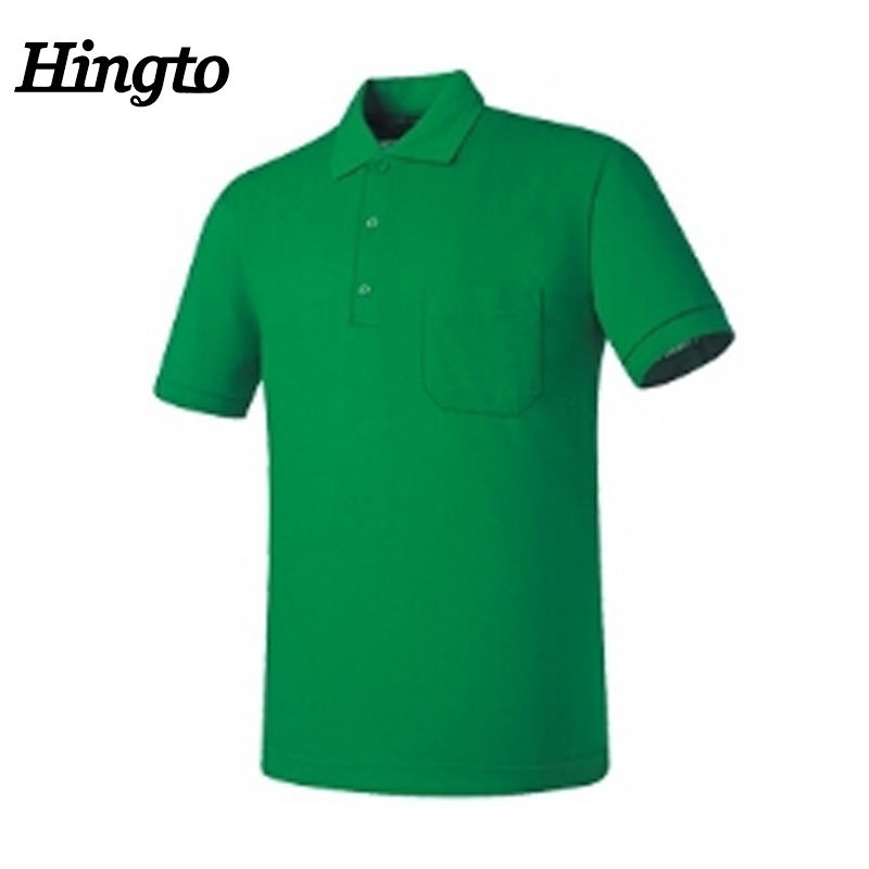 Custom Wholesale Men Blank Plain Short Sleeve Polyester Spandex Golf Polo Shirts With Pockets