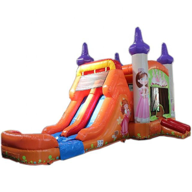 Inflatable Bouncy Castle 30ft Bounce House 2 Lane Water Slide Pool Combo