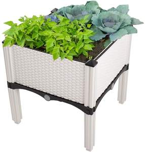 Elevated Planter Garden Box with Drainage Plug, Raised Garden Beds for Vegetable