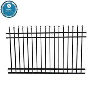 Guangzhou Factory angle top used in private hot galvanized elegant villa black wrought iron fence