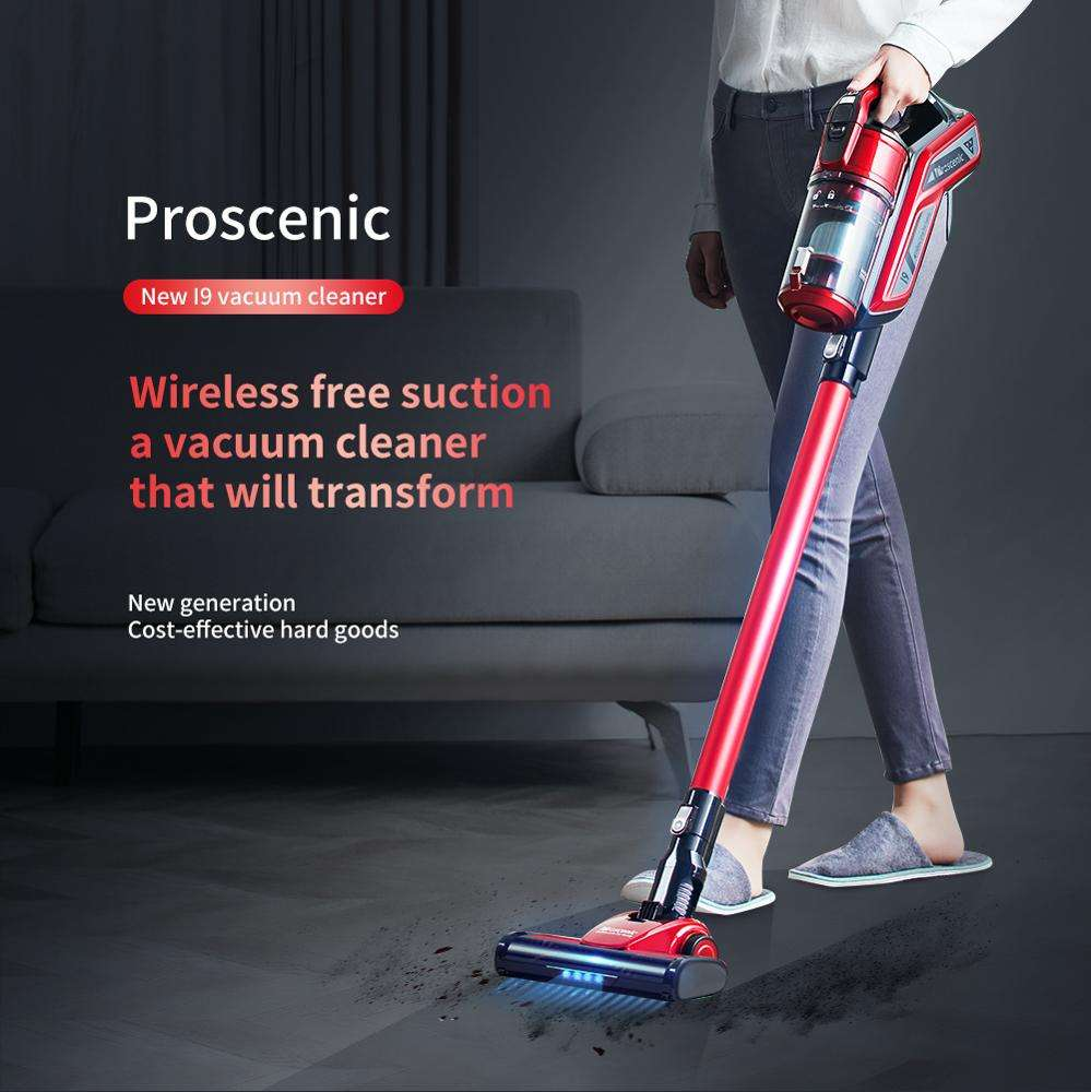 Cordless Vacuum Cleaner, Proscenic I9 15KPa Powerful Suction Cordless Stick Vacuum, Handheld Bagless 2-in-1 Stick
