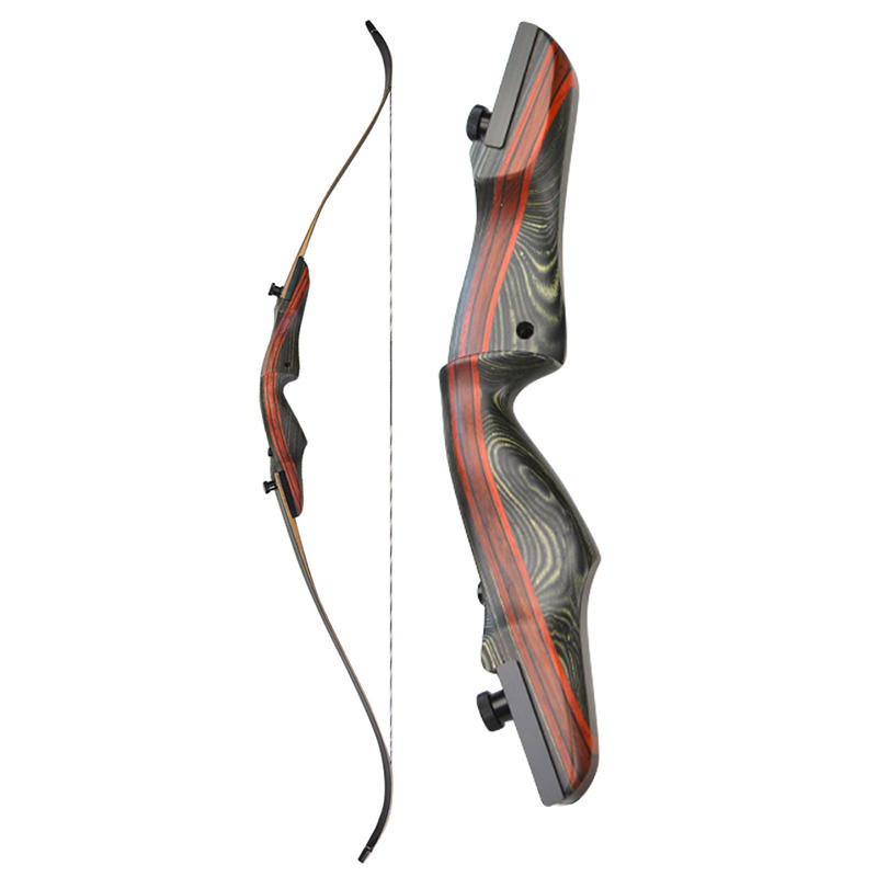 "62"" Recurve Bow American Hunting Bow Takedown Wooden Shooting 20-50lbs Right Hand Wooden Riser For Hunting Shooting Archer"