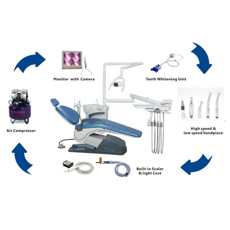 Economical Clinic Opening Plan Cheap Dental Chair high speed handpiece camera full set A1 dental chair unit