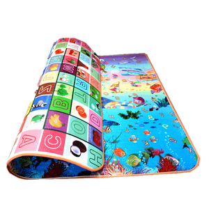 120*180cm*1.5cm Ocean Kid Floor Rugs Children Foam Whole Carpet Foam Baby Play folding Mat for Crawling