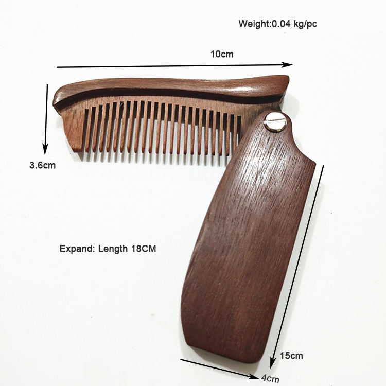 Big discount handlemake foldable hair comb,folding beard comb