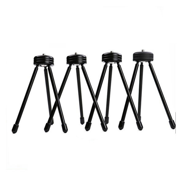 Multi-function Stainless Steel Mini Tripod Stand Flexible Camera Tripod for ring light and DSLR