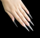 500pcs Clear Practice Display Thin Pointed Extra Long Stiletto Nail Tips