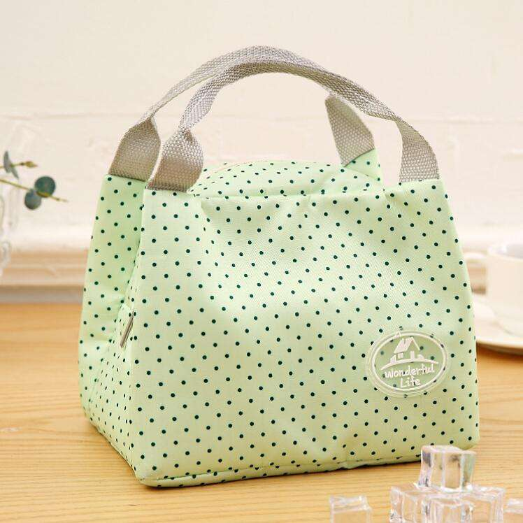 Outdoor picnic waterproof insulated frozen food delivery polyester nylon canvas cotton lunch bag