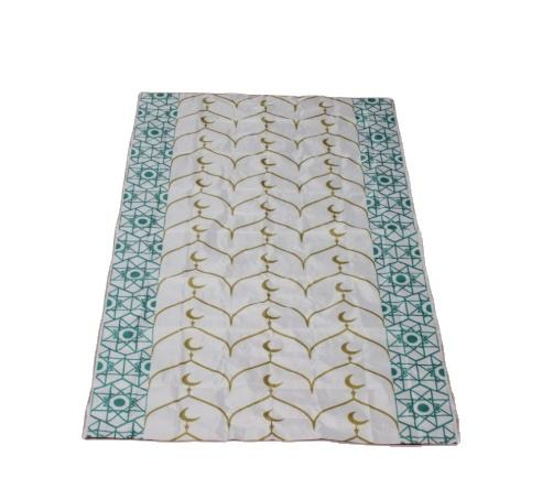 Wholesale cheap custom printed easy-carry and disposable muslin prayer mat
