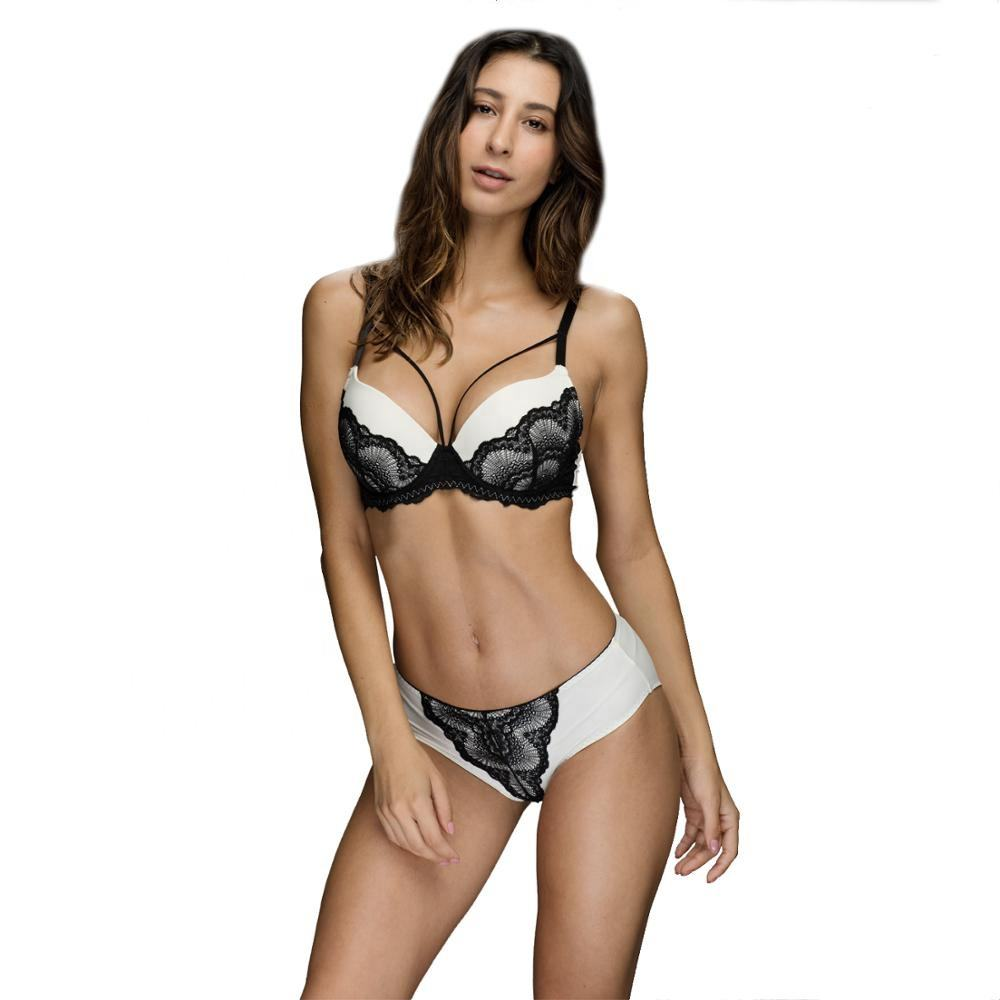 In-Stock Sexy Lace Push Up Bra And Panty Set,Push Up Bra And Underwear Panty Sets,Girls Best Push Up T Shirt Bra Set Top Quality