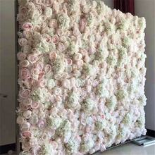 F-1598 Wholesale Discount Wedding Decoration 40*60 CM Floral Backdrop White Flowers Wall Artificial Peony Flower Wall