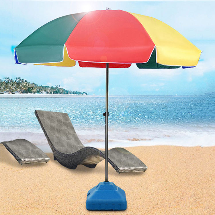 Wholesale Custom Logo Print Sun Outdoor Beach Umbrella
