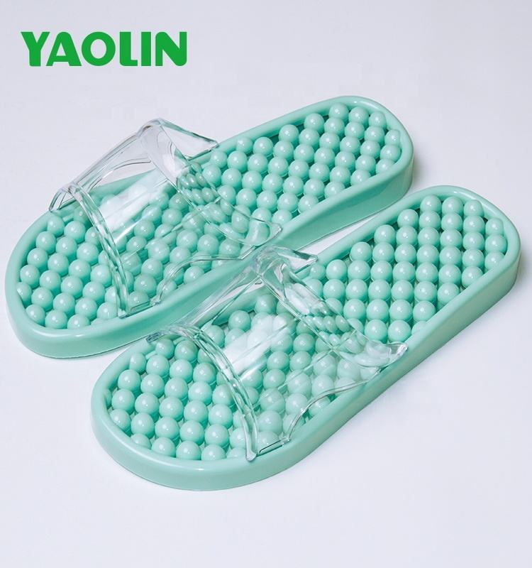 best selling PVC women's massage sandals bathroom slippers