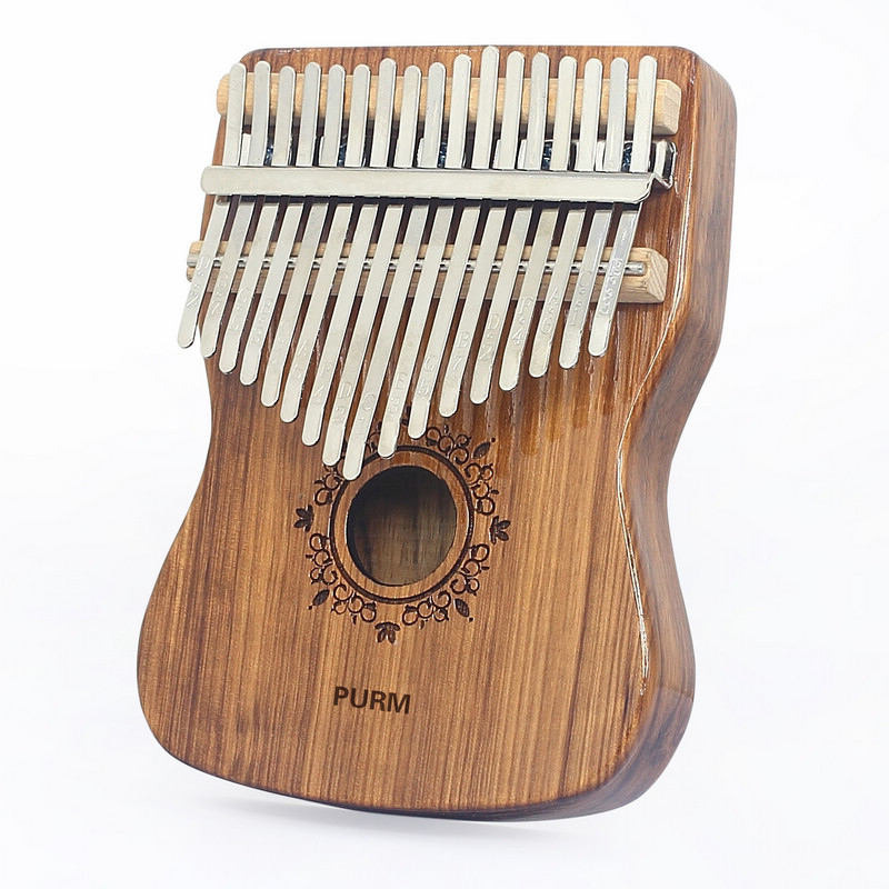 Thumb Piano Kalimba 17 Keys with Study Instruction and Tune Hammer  Portable Finger Piano  Gift for Kids Adult Musical Instrumen