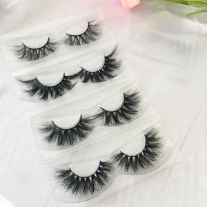 Hot lash styles sample packs wholesale real mink lashes 15mm 20mm 22mm 3d mink eyelashes natural