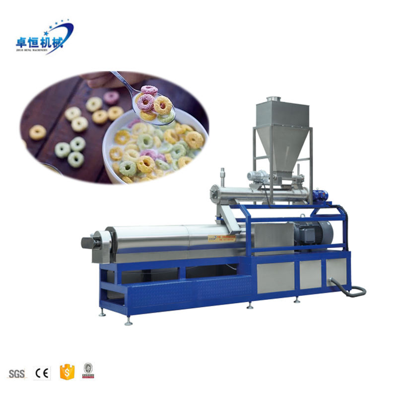 Cheese cereal puffed corn snacks production line flakes sticks extruder food machine