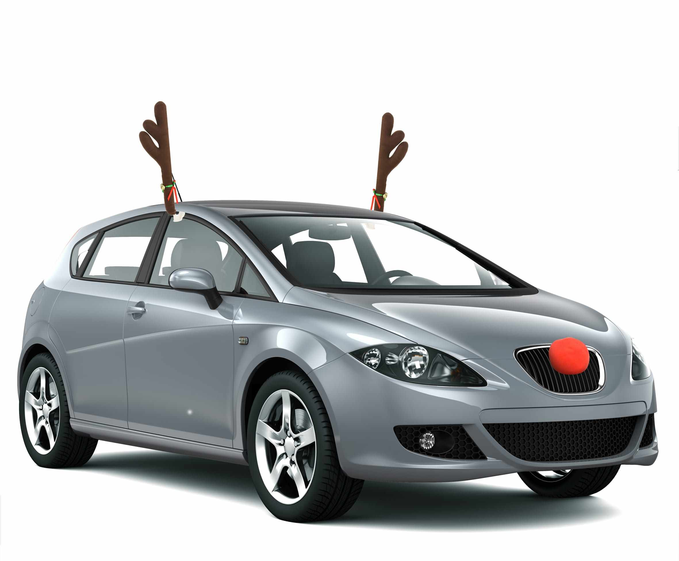 Window Top Rudolph Reindeer Jingle Bell Car Reindeer Antlers And Red Nose Vehicle Costume Christmas Ornaments Christmas Gift
