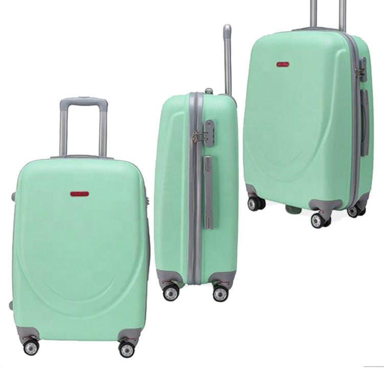 new style abs material external caster hard luggage and trolley suitcase