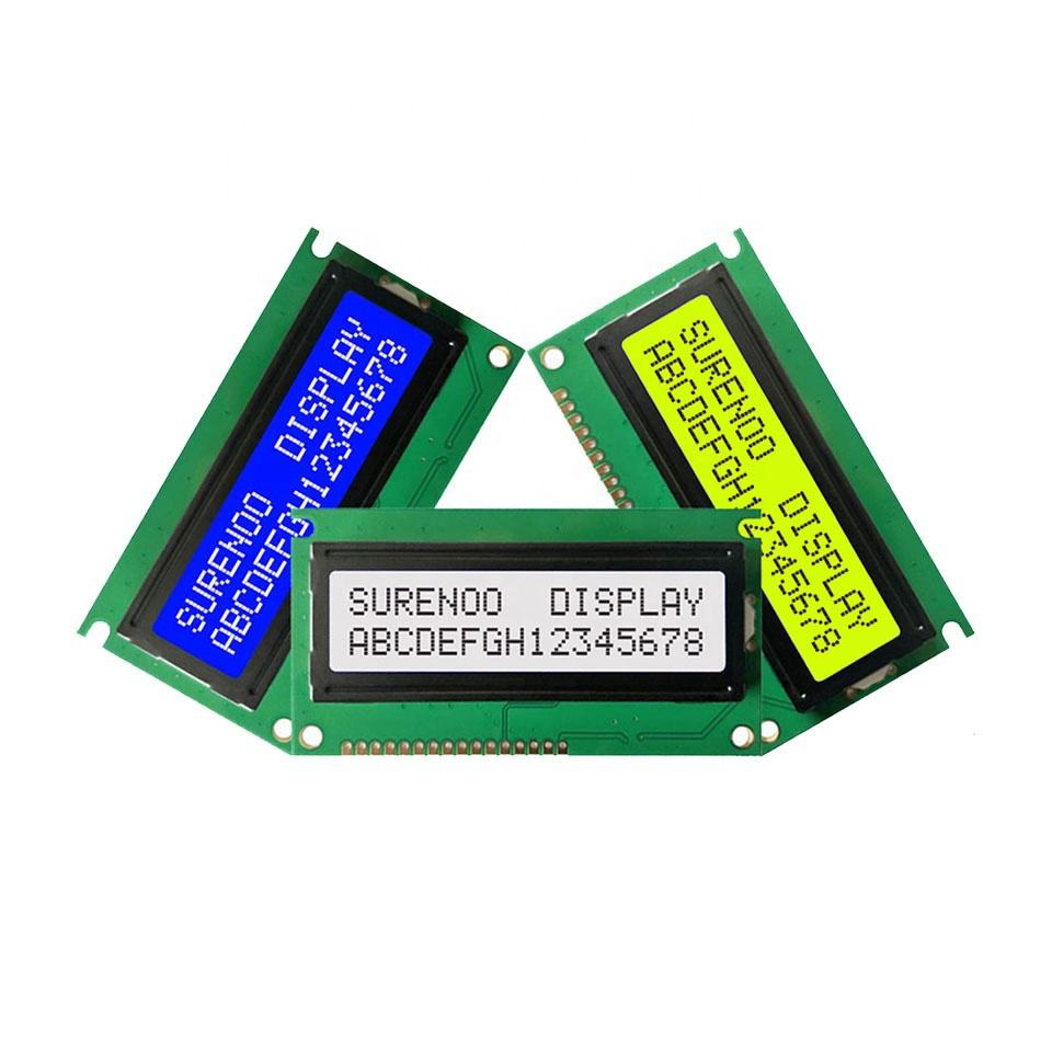 84*44MM 162 1602 16X2 STN Blue Negative Yellow Green FSTN Character LCD Module Display Screen Panel LCM SPLC780D LED Backlight