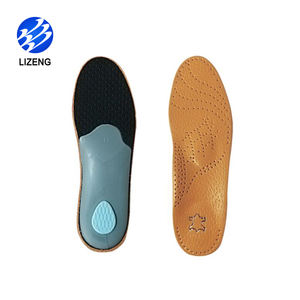Flat Feet Orthotic Genuine Leather High Arch Support Insole for Flat Feet