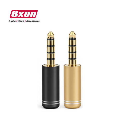 Gold Plated 4.4mm Audio Plug Jack 5 Pole Earphone Adaptor diy