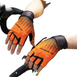 Summer Sports Sunscreen Non-slip Gadgets Bicycle Riding Sweat Absorb Protection Men Half Finger Hand Protective Tools