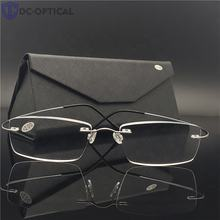 2020 Gift Silver Gold Pink Rimless Titanium Frames High End Titanium Reading Glasses power +1.00,+1.50,+2.00,+2.50,+3.00,+3.50