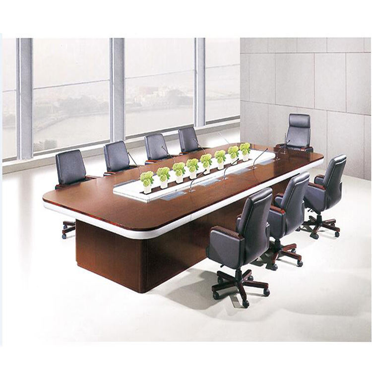 Modern Office Furniture Solid Wood Boards Modular Conference Table