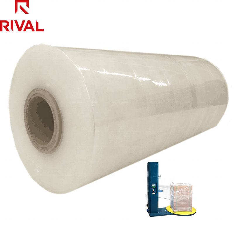 5 Layer Blown Film 100% New PE Plastic Wrapping Stretch Film Jumbo Rolls for Pallets