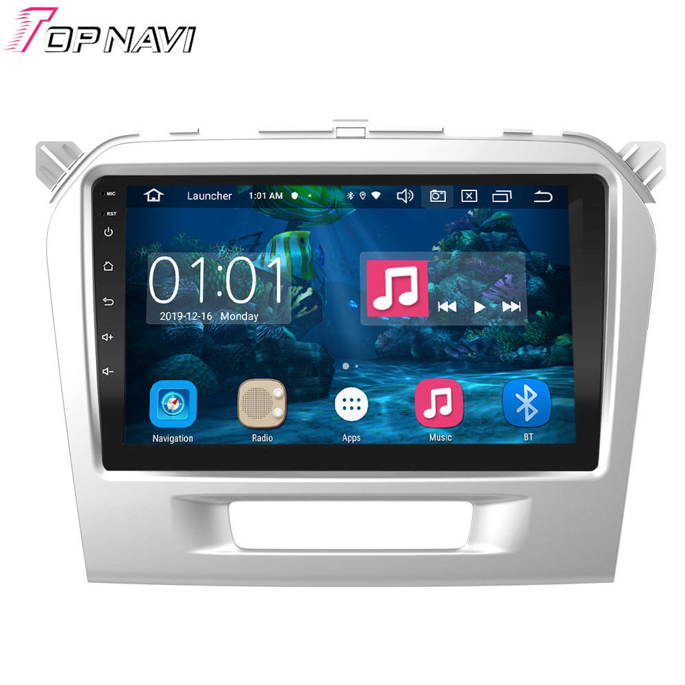 Android 9.0 2G 32G 8 Core Multimedia Player Mobil untuk Suzuki Grand Vitara 2015 2016 2017 2018 2019 navigasi GPS Auto Radio