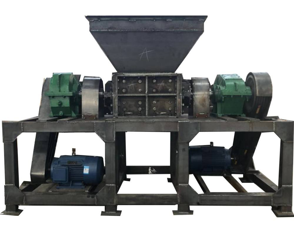 plastic recycling shredding paper shredder machine / twin shaft shredder for plastic film recycling