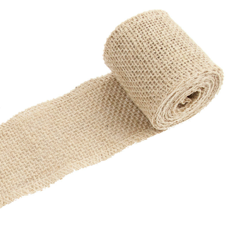 6cm*200cm Brown Linen Roll Table Decor Party Supplies DIY Burlap Ribbon Gift Packaging Wrapping Craft Wedding Eco-friendly631110