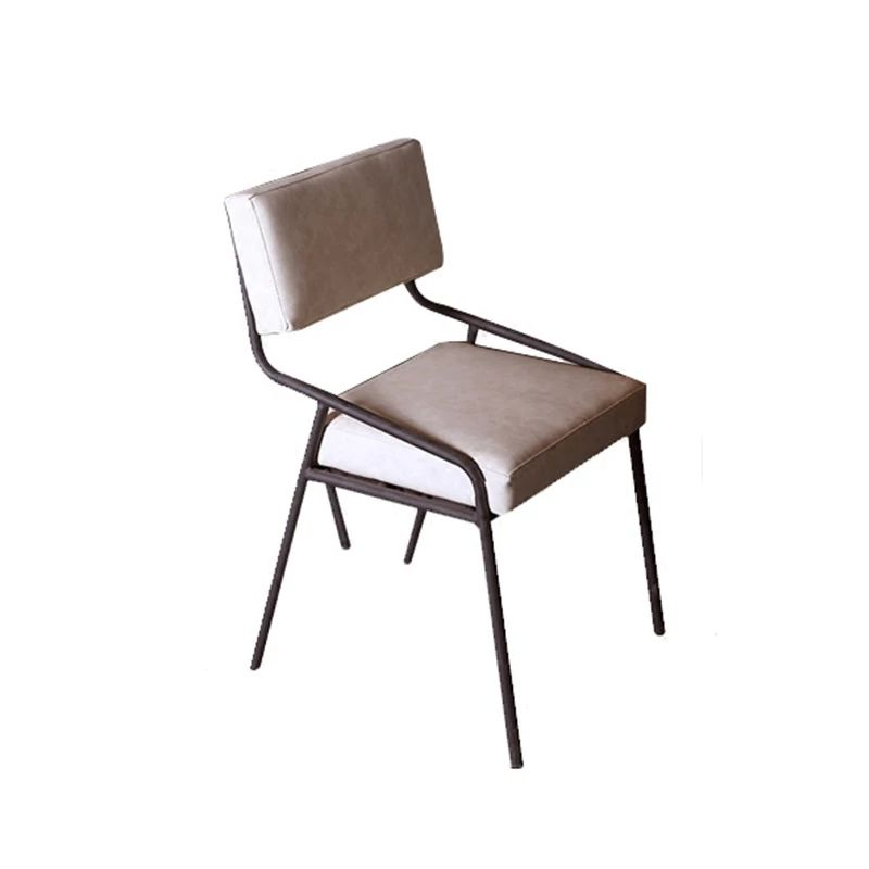 American retro industrial wrought iron chair restaurant cafe leisure backrest chair designer creative chair
