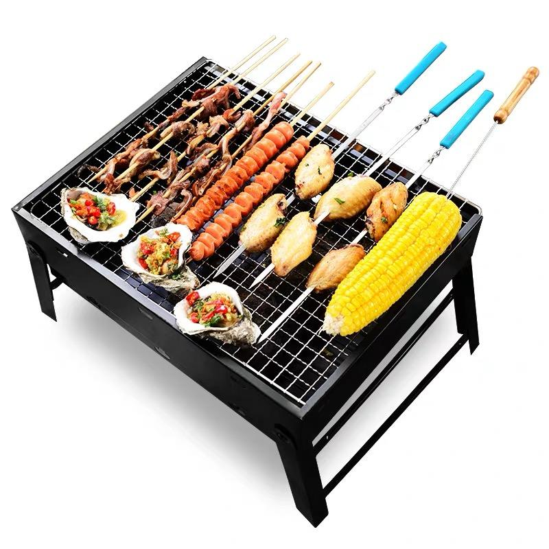 Outdoor Kitchen Brazier BBQ GRILL Portable Black Barbecue Charcoal Grill