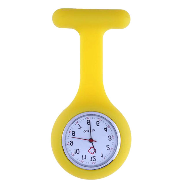 Portable Colorful Fob Nurse Pocket Brooches Watch Silicone Custom Breast Watches