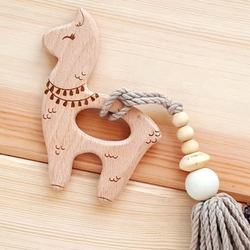 Hand Made Laser Marking camel baby teething toys llama teether