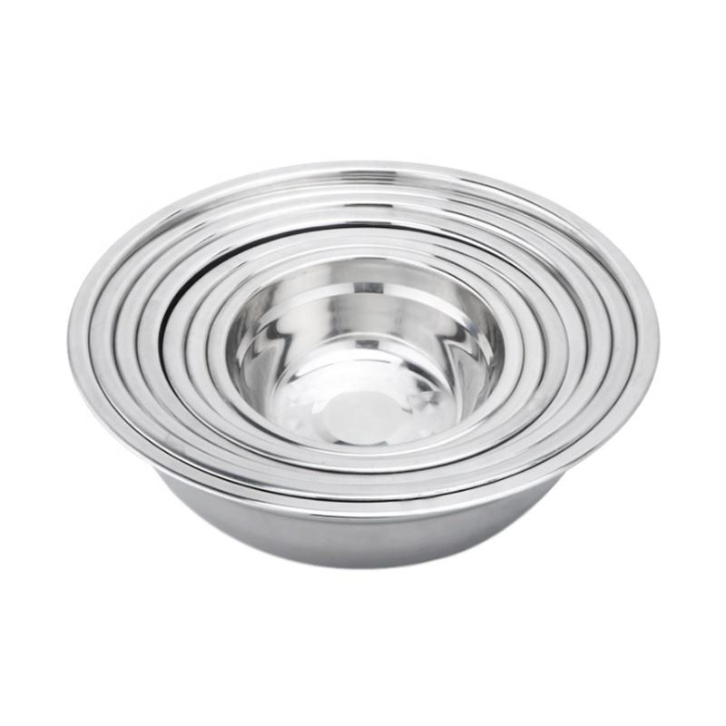 2020 hot sale stainless steel Non-magnetic soup basin multi-functional soup pot customizable metal deepen noodle bowl