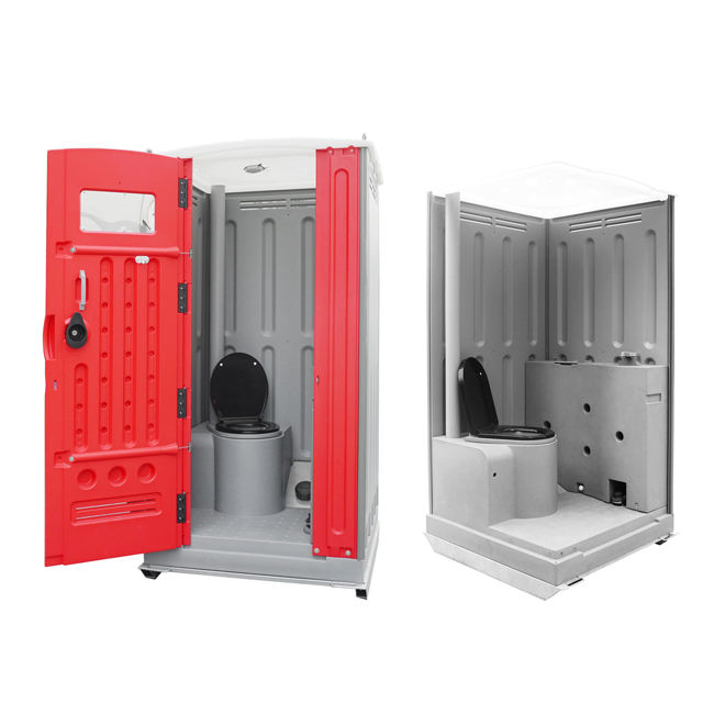 Australia rotomolding double skin wall steel skid portable toilet