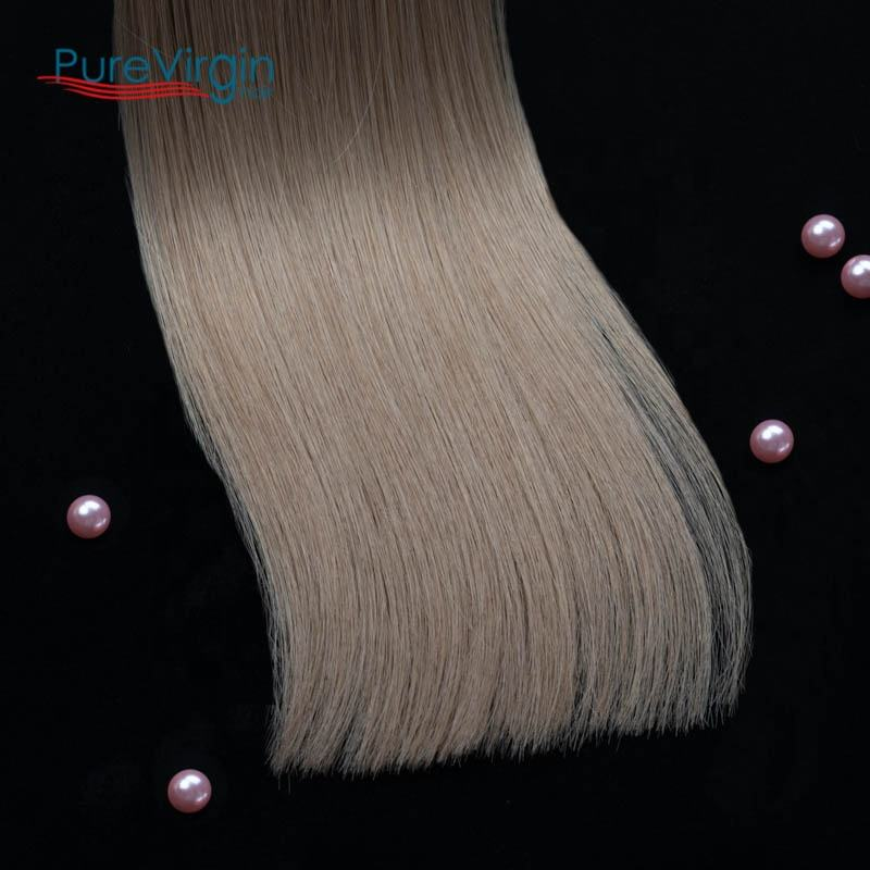 PureVirg 8-40inch seamless hair extensions weft hand tied weft human hair extension wholesale virgin hair vendors