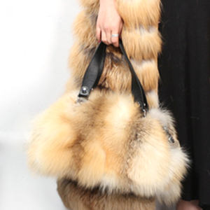 Luxury Tote Fur Hand Bag Premium Leather Women Bags