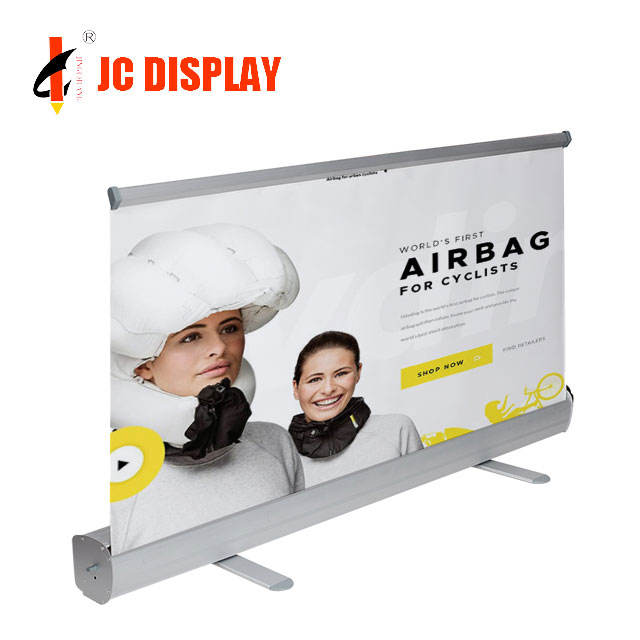 Banner 80X200 Advertising Stand Aluminum Frame Roll Up System