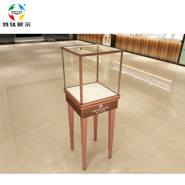 Hot Sale Custom Tower Jewelry Display Stand And Glass Showcase For Jewelry Showroom
