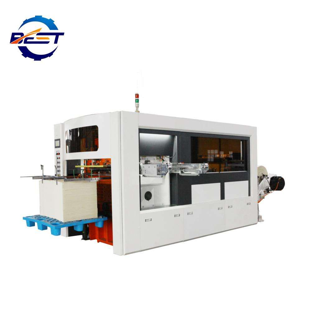 Automatic high speed roll paper cup die-cutting machine and creasing machine