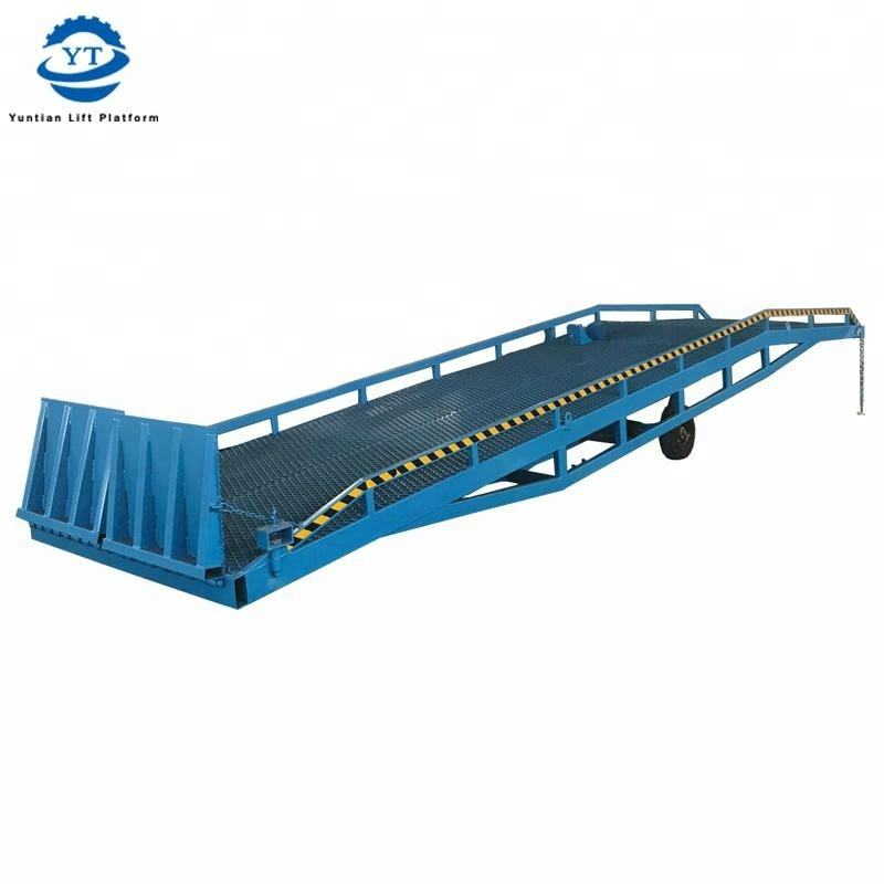CE Approved Warehouse Truck mounted Lifting Dock Ramp/Electric Adjustable hydraulic Loading Ramp Lifting Platform