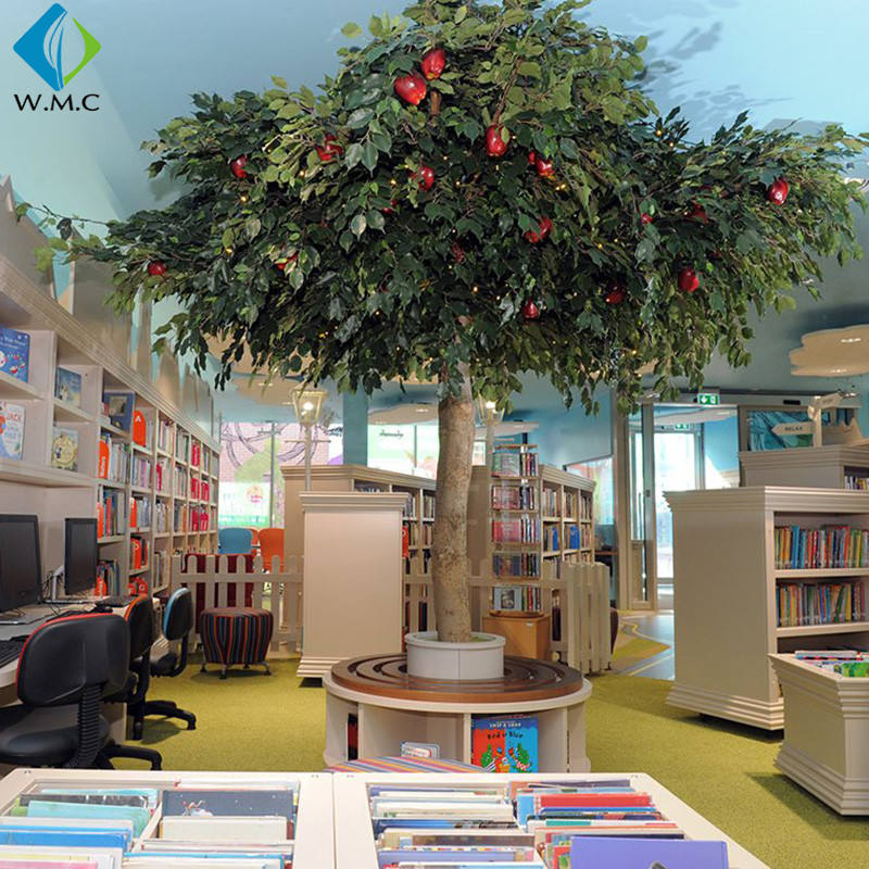 Factory Wholesale Customized Artificial Apple Tree With Fruits Plants Cheap Price For Indoor Decoration