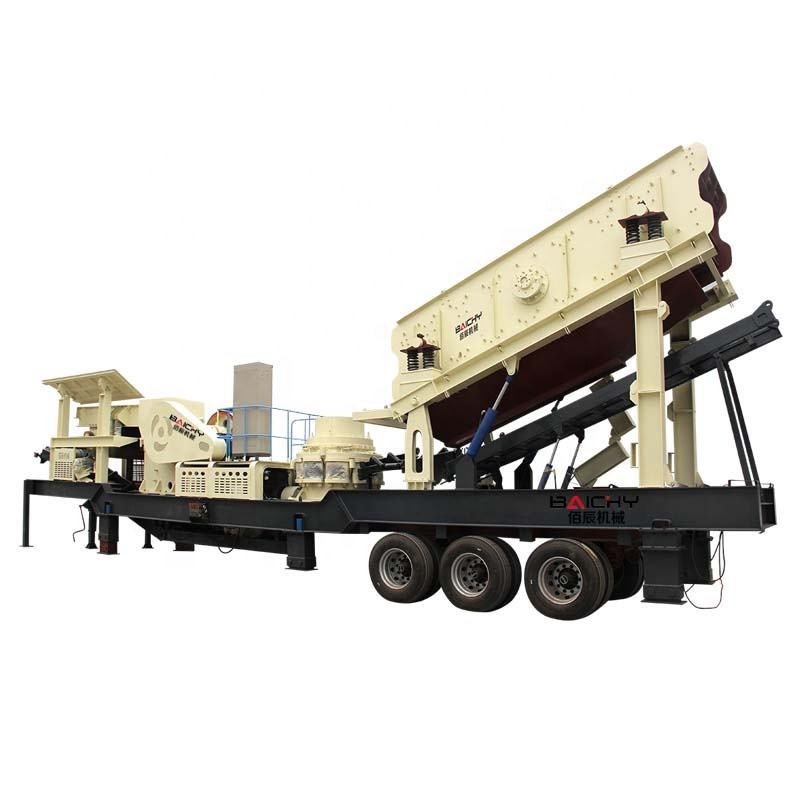 China most famous stone mobile crushing and screen machine plant for sale