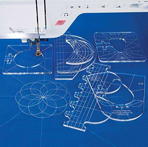 Multifunction Ruler Plastic Clothing Sewing Patchwork Template Sampler Set for Domestic Sewing Machine