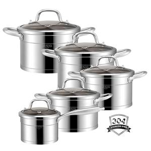 Hot sale and best price manufacturer direct sale stainless steel pots and pans cookware set nonstick kitchenware